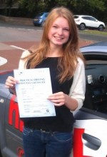 Christina Hedges With Certificate